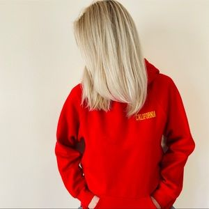 Forever 21 red California oversized hoodie